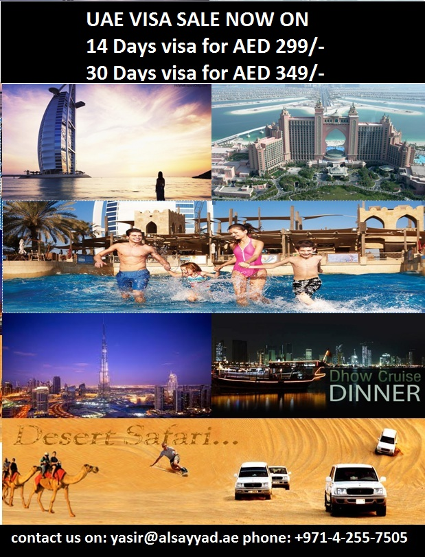 UAE VISA FROM AED 299 ONLY